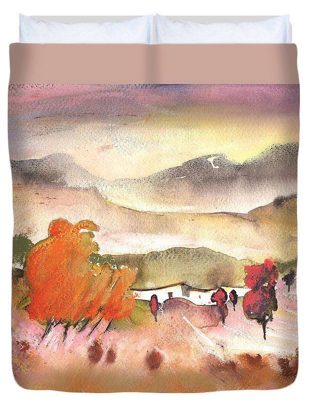 Travel Duvet Cover featuring the painting Finca In Spain by Miki De Goodaboom