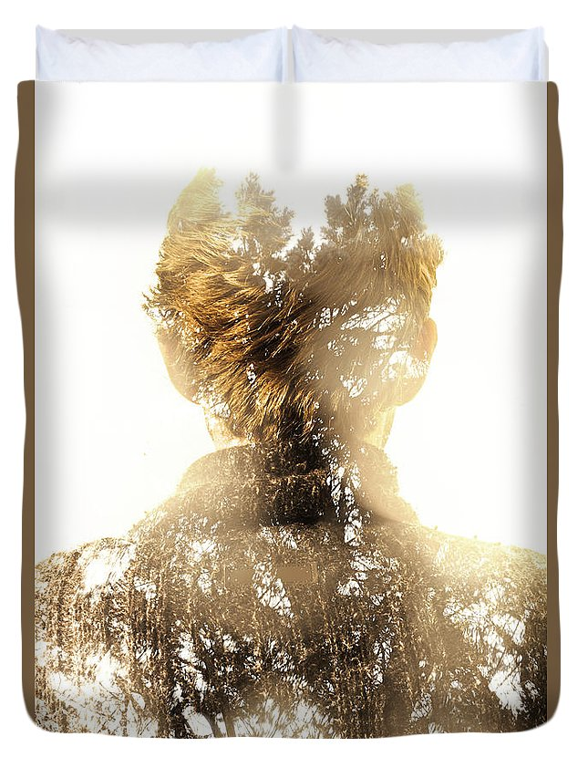 Spiritual Duvet Cover featuring the photograph Finding Spirit Within by Jorgo Photography - Wall Art Gallery