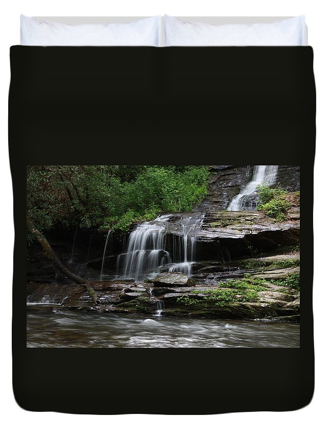 Falls Duvet Cover featuring the photograph Fine Falls by Shari Jardina