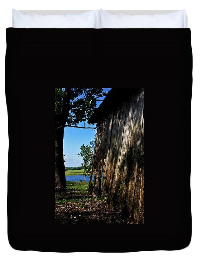 Landscape Duvet Cover featuring the photograph Fine Woodwork by Rachel Christine Nowicki