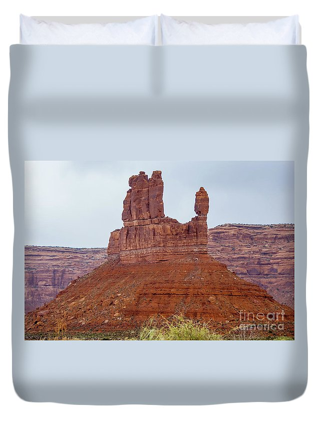 Valley Of The Gods Duvet Cover featuring the photograph Fingers by Jerry Sellers