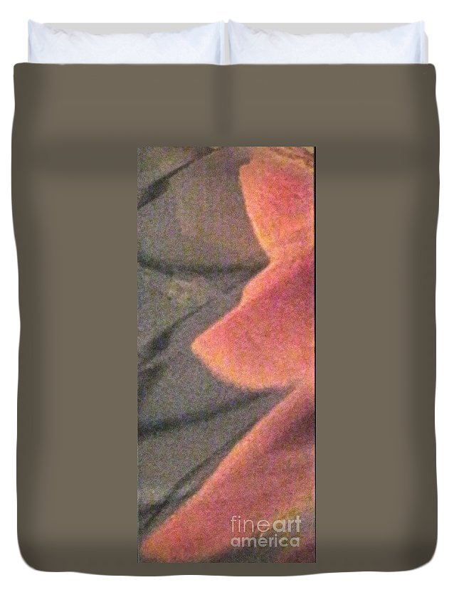 Abstract Duvet Cover featuring the photograph Fingers On Gray Abstract by Ken Lerner