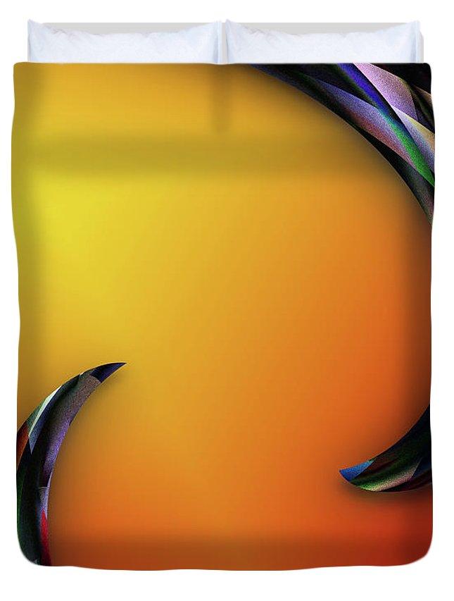Digital Art Duvet Cover featuring the digital art Finnish Line by John Kaiser