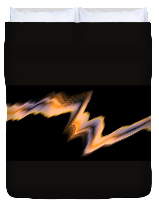 Art Digital Art Duvet Cover featuring the digital art Fire by Alex Porter