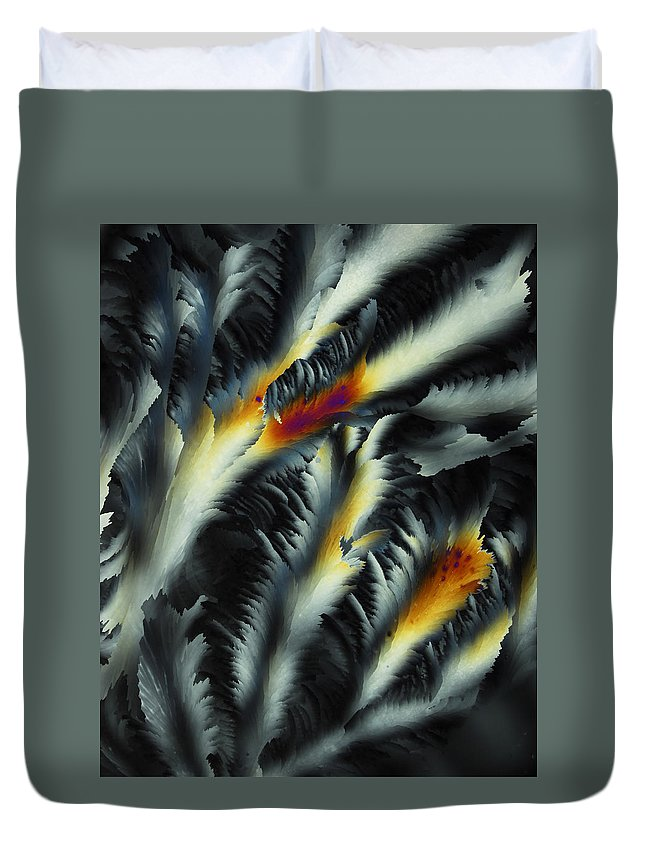 Frost Duvet Cover featuring the photograph Fire And Frost by Carol Berget