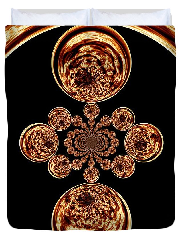 Fire Duvet Cover featuring the digital art Fire Design by Charleen Treasures