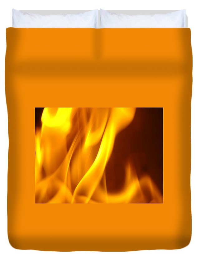 Fire Duvet Cover featuring the photograph Fire Desire Mesmerized San Francisco Autumn Warmth Baslee Troutman by Baslee Troutman