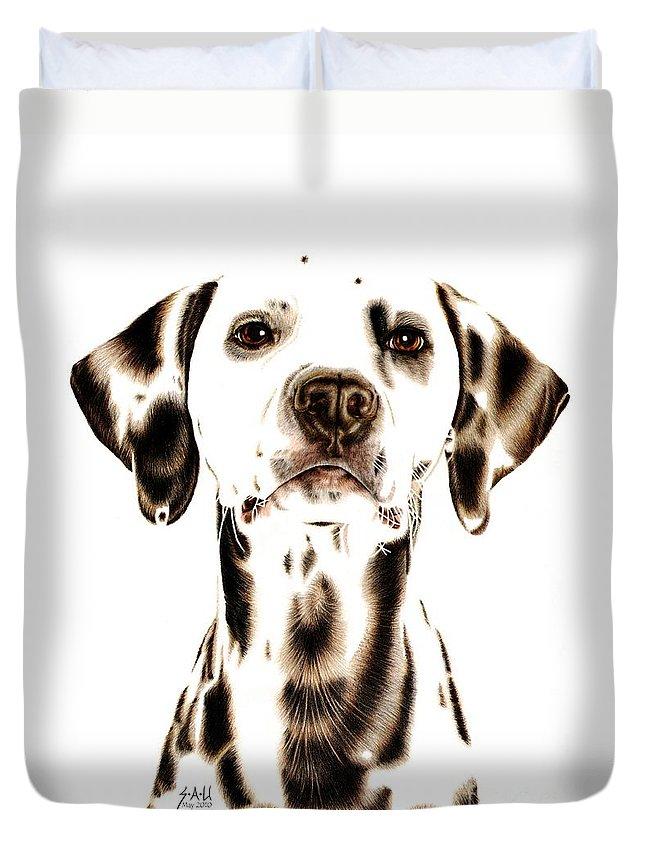 Pet Portrait Drawings Duvet Covers