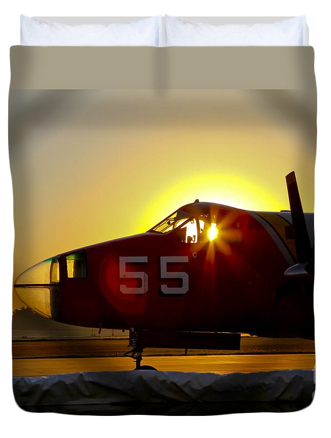 Fire Duvet Cover featuring the photograph Fire Fighting Aircraft by Elizabeth Greene