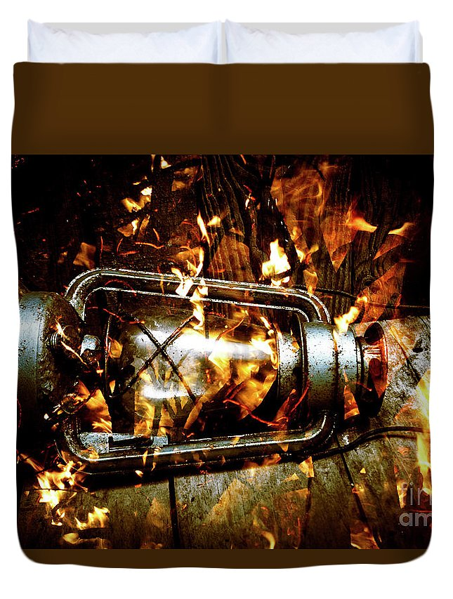 Lantern Duvet Cover featuring the photograph Fire In The Hen House by Jorgo Photography - Wall Art Gallery