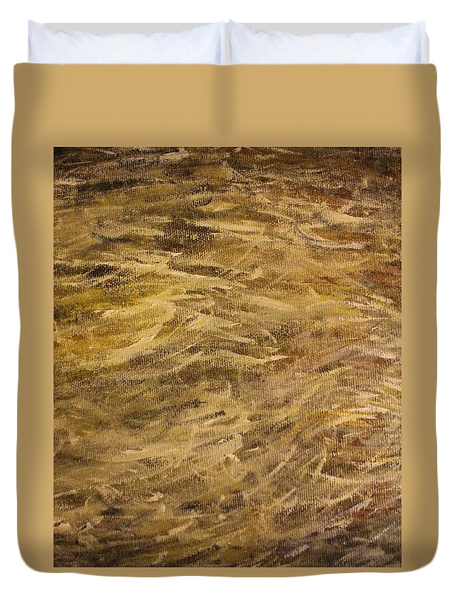Duvet Cover featuring the painting Fire by Michael Titherington