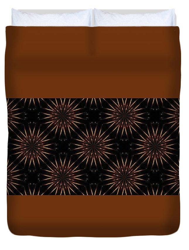 Kaleidoscope Duvet Cover featuring the photograph Fire Sabers by M E Cieplinski