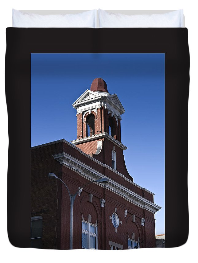 Roanoke Duvet Cover featuring the photograph Fire Station No 1 Roanoke Virginia by Teresa Mucha
