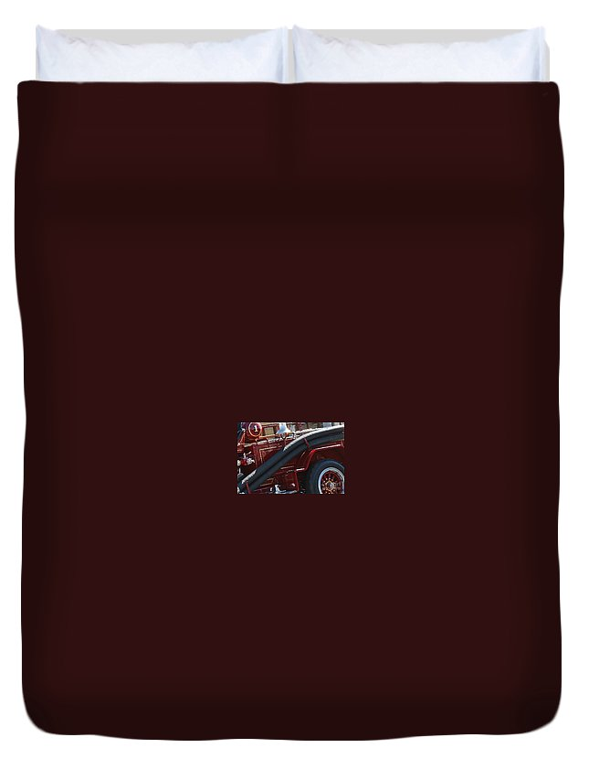 Engine Duvet Cover featuring the photograph Fire Stuff by Rick Monyahan