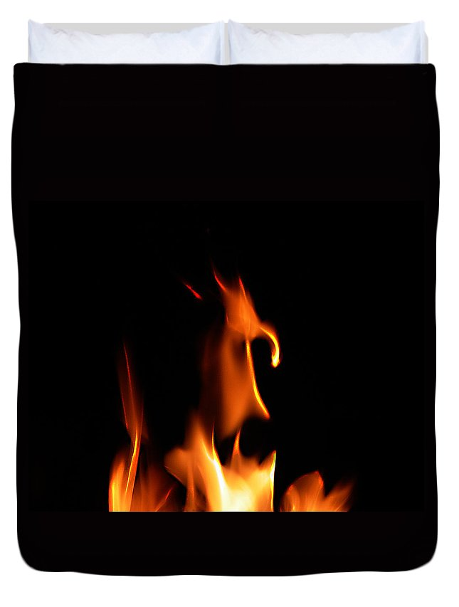 Cartoon Character Fire Duvet Cover featuring the photograph Fire Toon by Peter Piatt