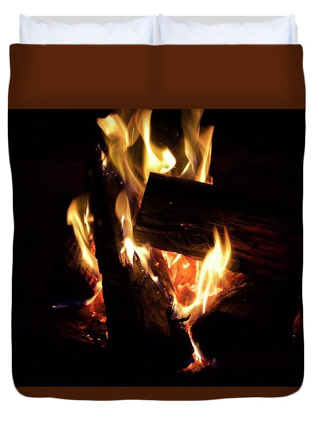 Duvet Cover featuring the photograph Fire by Zoe Ward