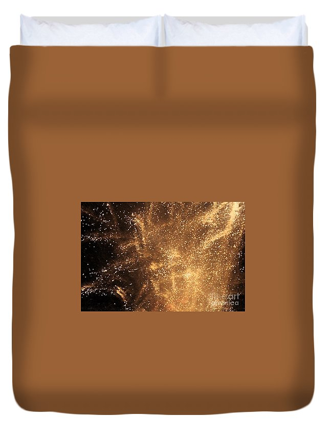Fireworks Duvet Cover featuring the photograph Fired Up by Debbi Granruth
