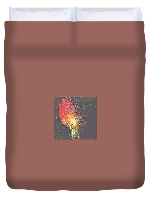 Fireworks Duvet Cover featuring the photograph Fireworks by Christine DuMouchel