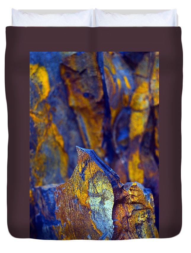Texture Duvet Cover featuring the photograph First Cut Is The Deepest by Skip Hunt
