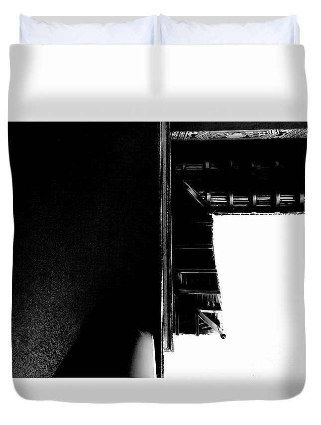 Architecture Duvet Cover featuring the photograph First Line Days by Fei A