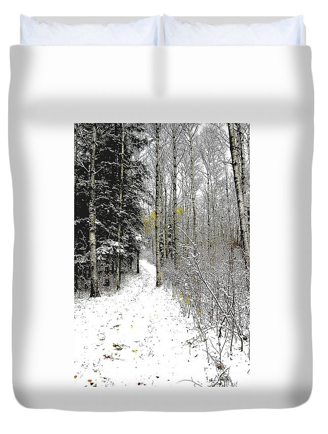 Winter Duvet Cover featuring the photograph First Snowfall by Nelson Strong