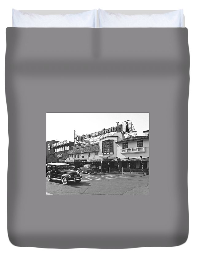 Fisherman Duvet Cover featuring the photograph Fisherman by Tom Reynen