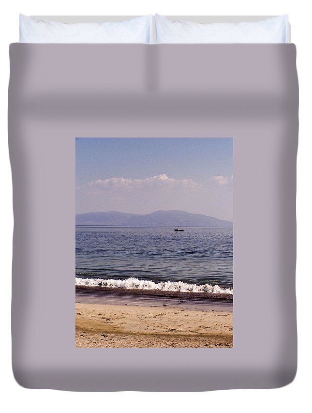Irish Duvet Cover featuring the photograph Fishing Boat On Ventry Harbor Ireland by Teresa Mucha