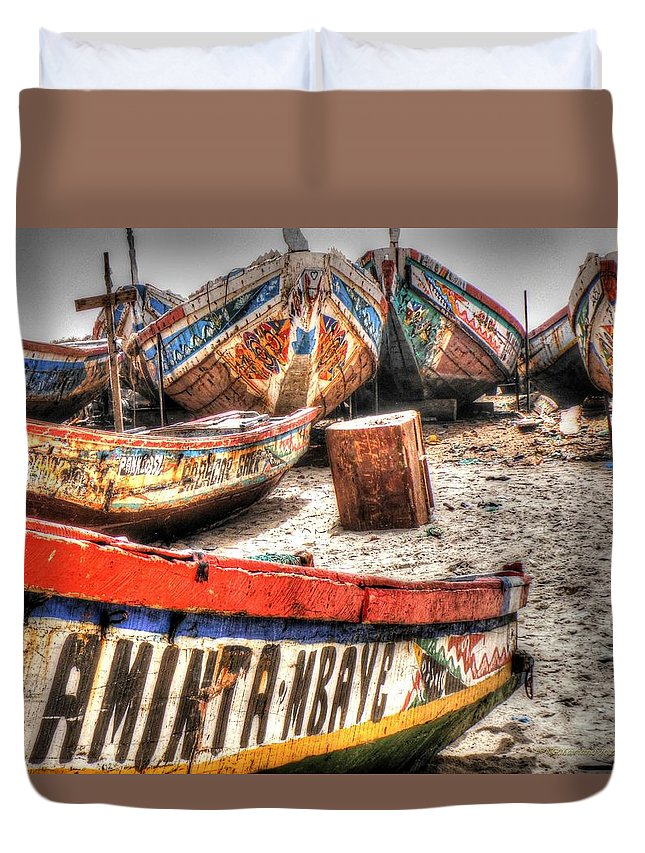 Boats Duvet Cover featuring the photograph Fishing Boats by Nicholas Mariano