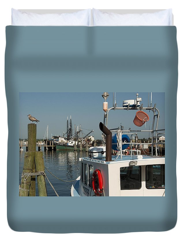 Long Duvet Cover featuring the photograph Fishing Fleet by Steven Natanson
