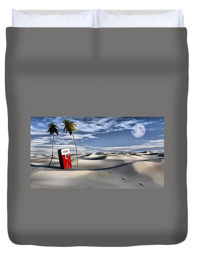 Deserts Duvet Cover featuring the digital art Five Cent Oasis by Richard Rizzo