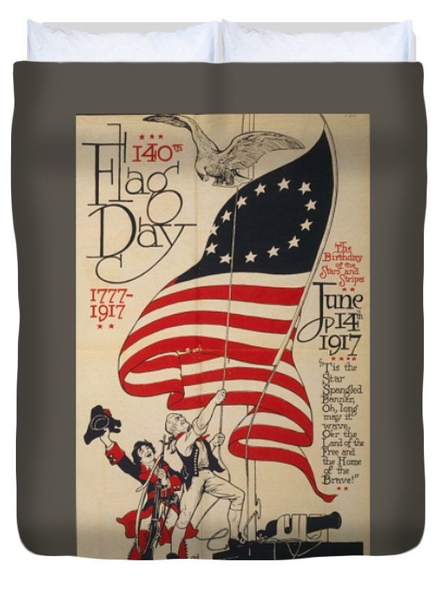 Day Duvet Cover featuring the digital art Flag Day 1917 by Frederick Holiday