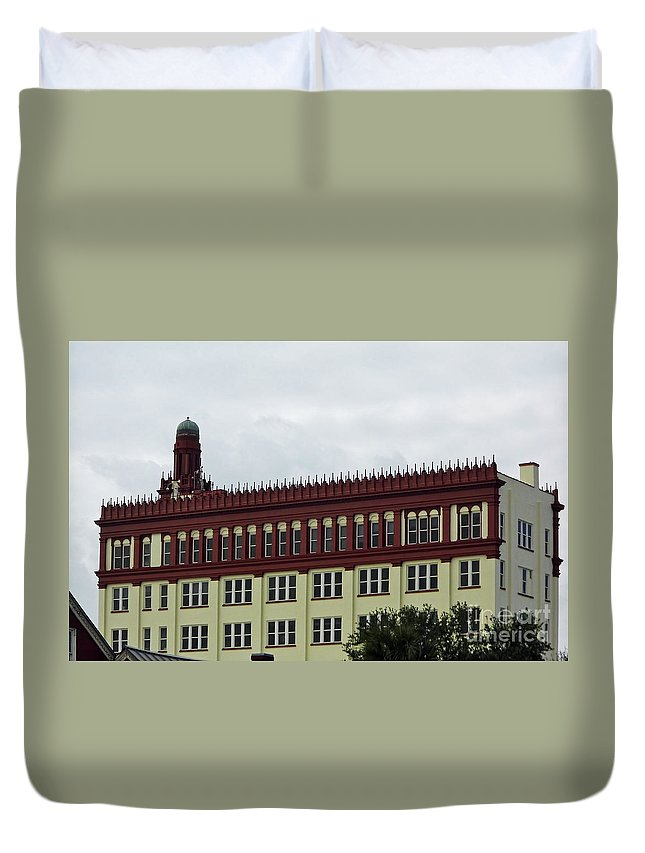 Flagler College Duvet Cover featuring the photograph Flagler College by D Hackett