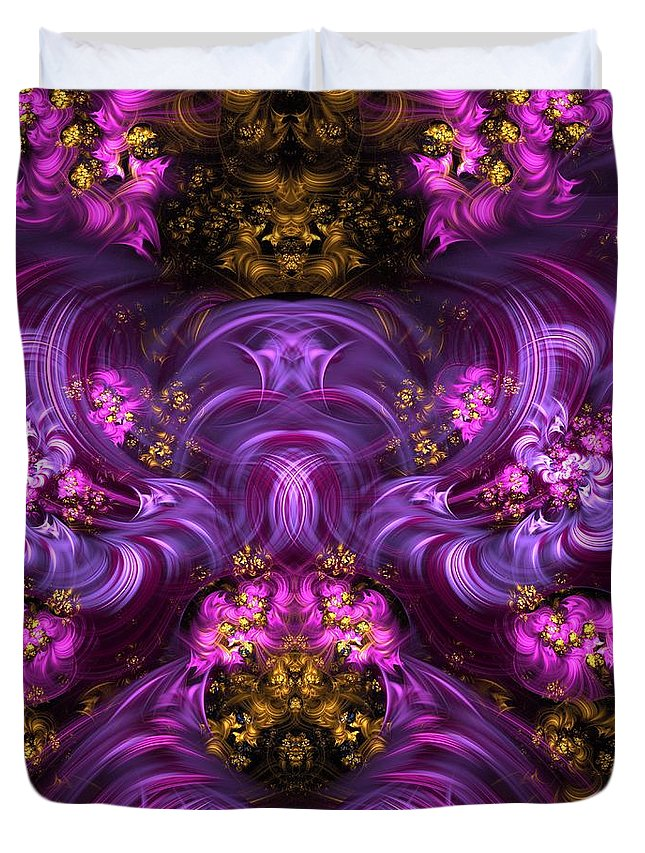 Fractals Duvet Cover featuring the photograph Flame Fountain by Gregory Pirillo