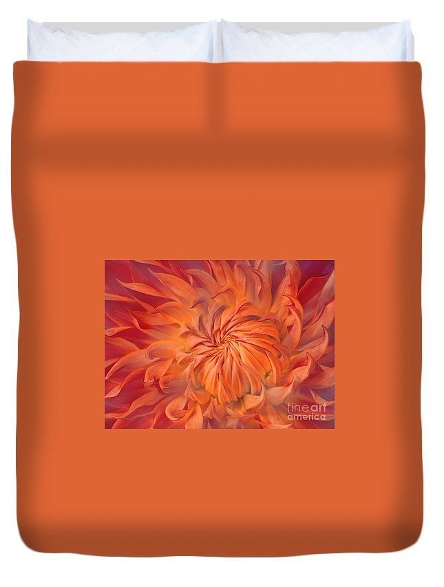 Flower Duvet Cover featuring the photograph Flame by Jacky Gerritsen