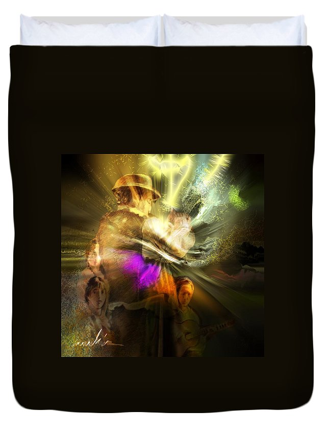 Spain Duvet Cover featuring the painting Flamenco by Miki De Goodaboom