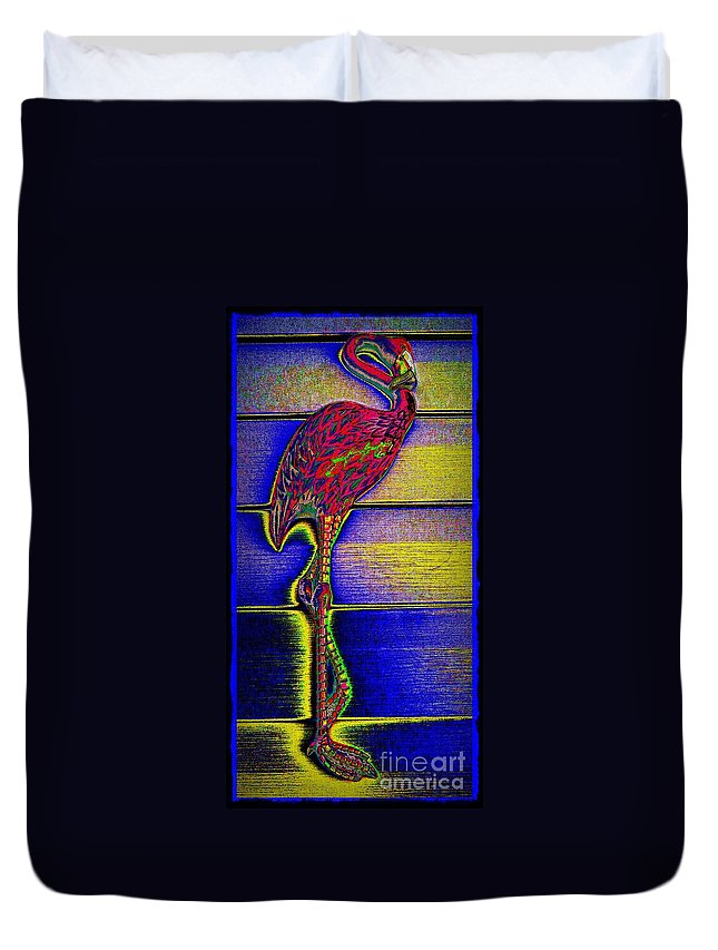 Flamingo Duvet Cover featuring the photograph Flamingo IIi by Leslie Revels