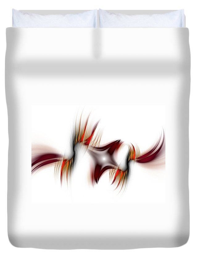 Abstract Duvet Cover featuring the digital art Flamme Flamme by Georgiana Romanovna