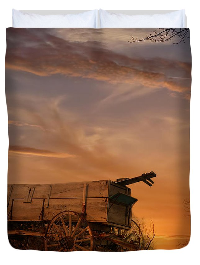 Wagon Duvet Cover featuring the photograph Flashback by Theresa Campbell