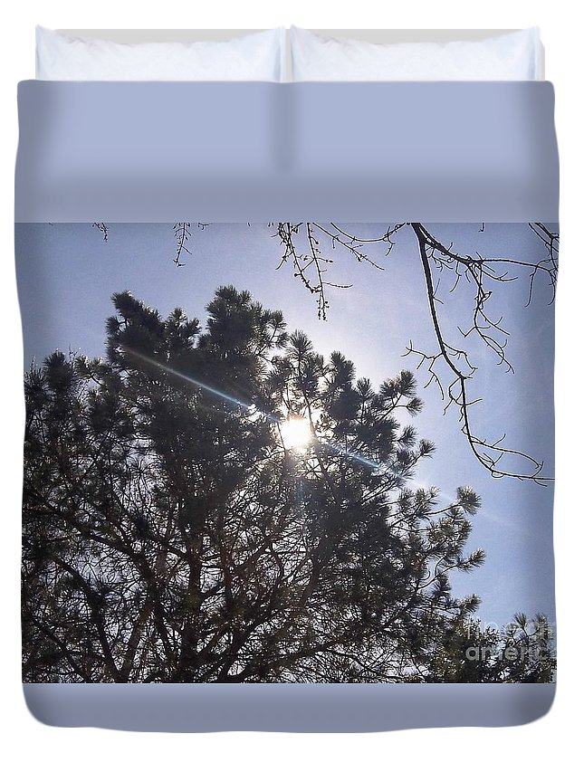 Photography Duvet Cover featuring the photograph Flashlight Canope by Percival Vince