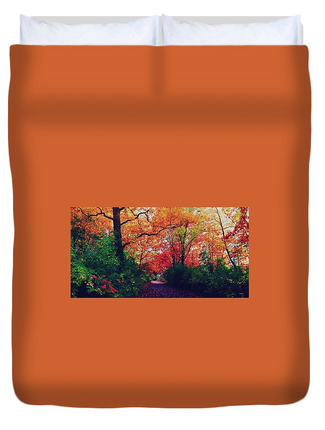 Dim Duvet Cover featuring the photograph Flat Hike by Devin Dixon