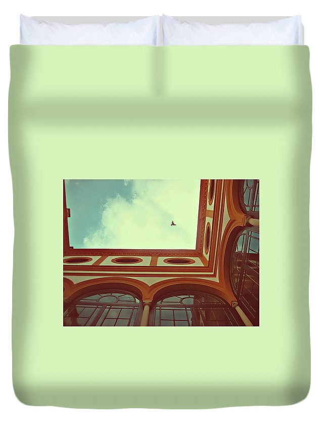 Architecture Duvet Cover featuring the photograph Flight Of The Moors by JAMART Photography