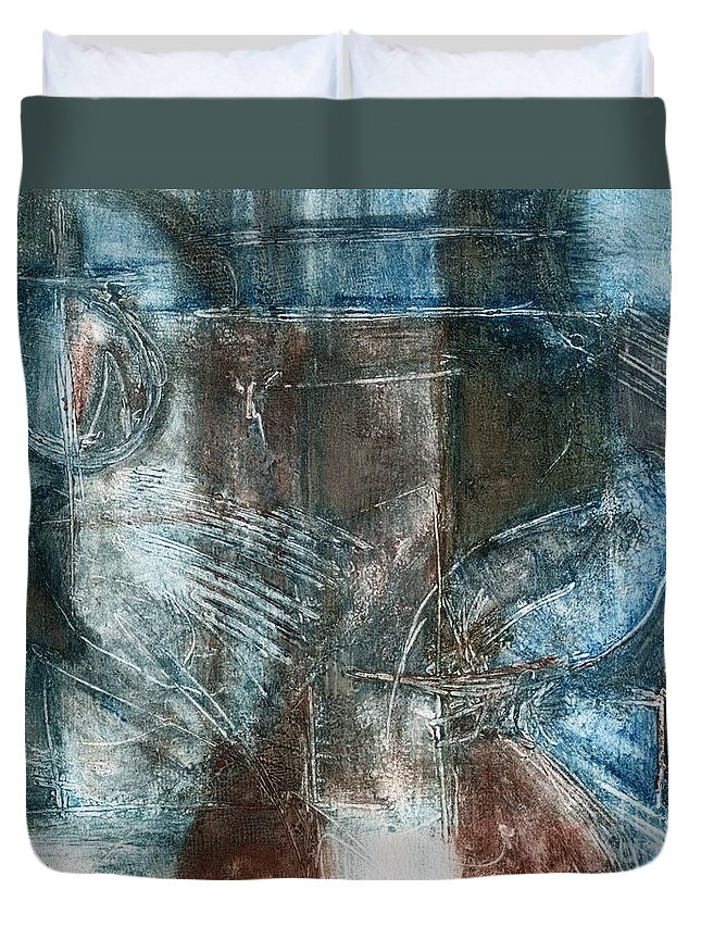 Flight Duvet Cover featuring the drawing Flight Passage by Kerryn Madsen- Pietsch