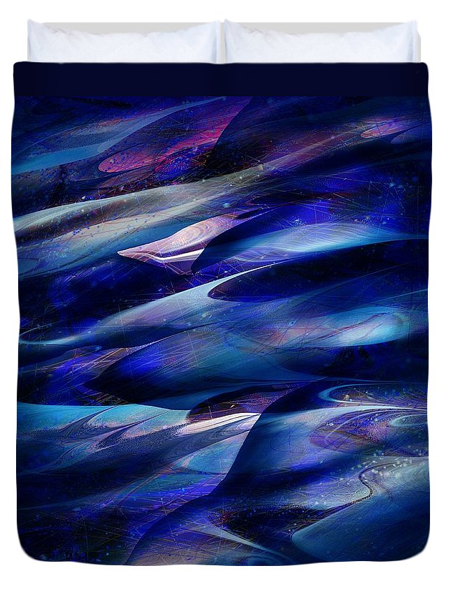 Abstract Duvet Cover featuring the digital art Flight by William Russell Nowicki
