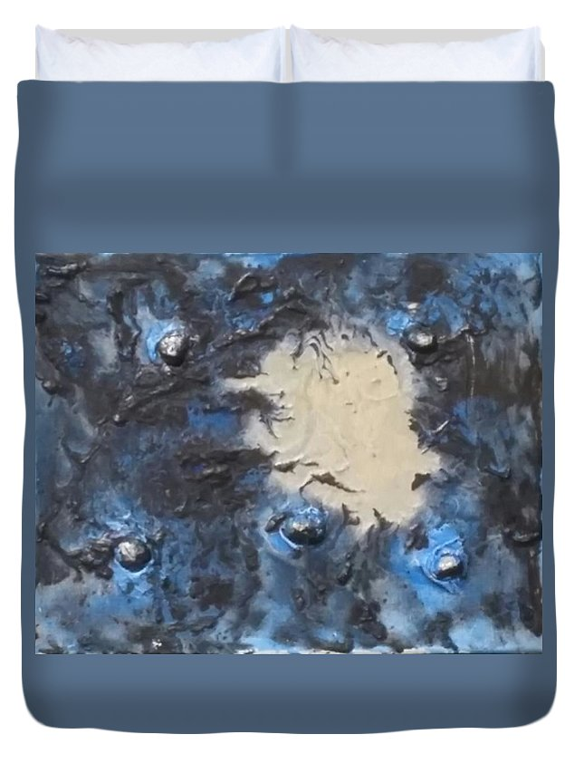 Space Duvet Cover featuring the painting Float by Cherae Espino