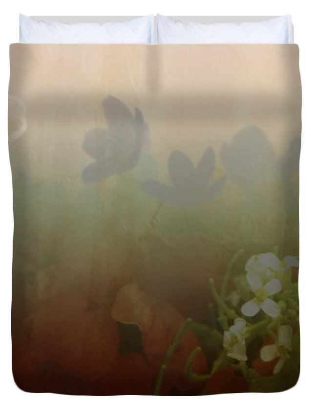 Bubble Duvet Cover featuring the photograph Floating Bubble by Scott Wyatt