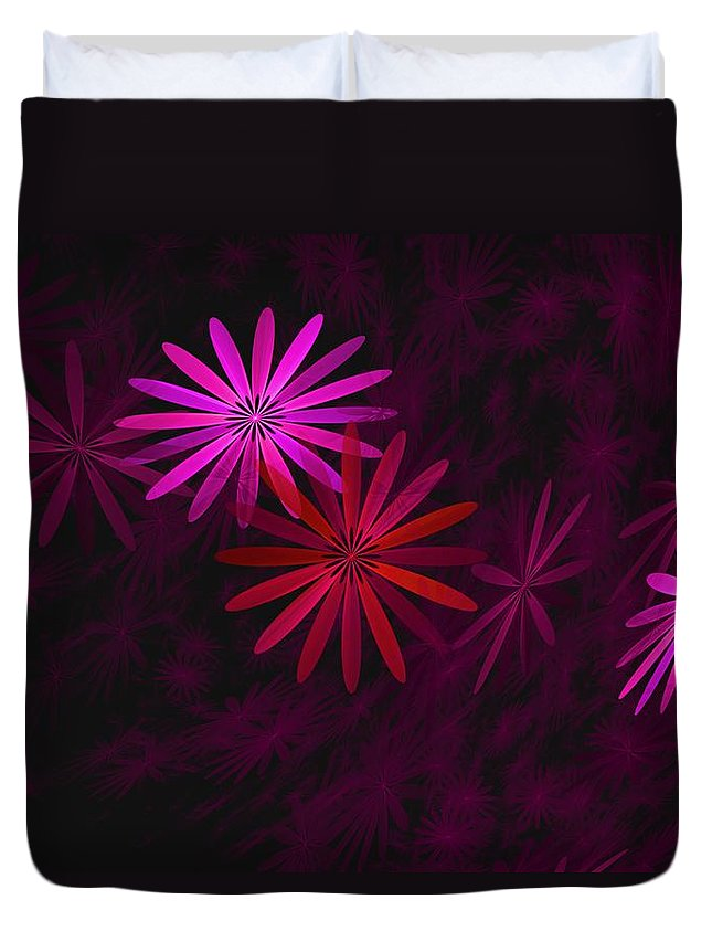 Fantasy Duvet Cover featuring the digital art Floating Floral - 006 by David Lane