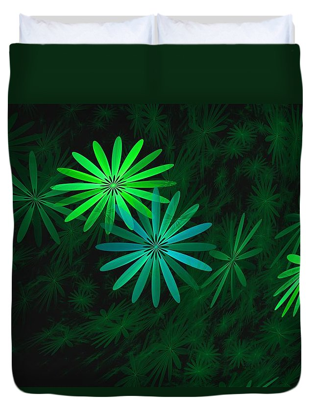 Digital Photography Duvet Cover featuring the digital art Floating Floral-007 by David Lane