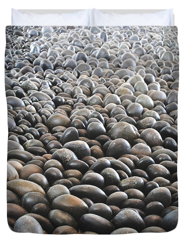Rocks Duvet Cover featuring the photograph Floor Of Rocks by Jost Houk