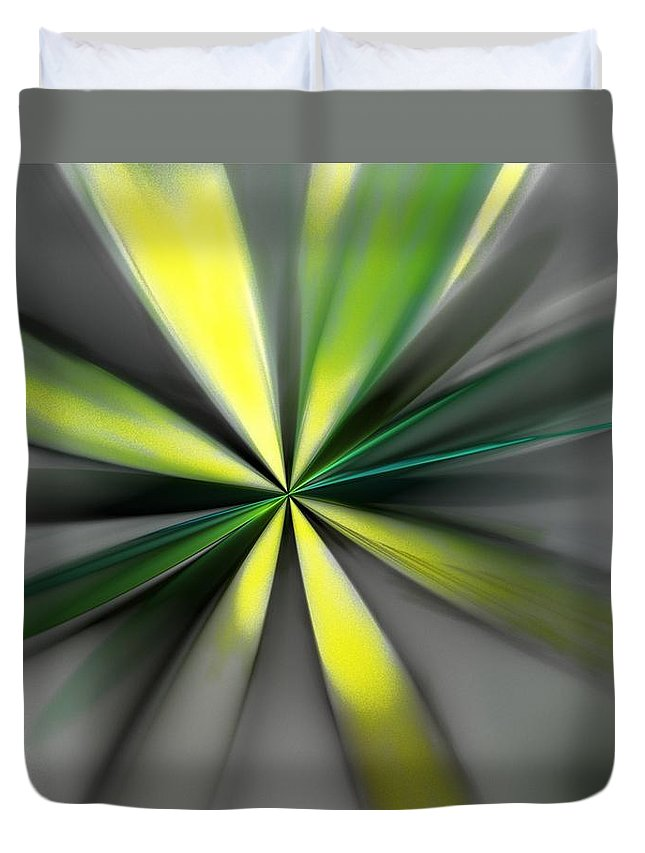 Digital Painting Duvet Cover featuring the digital art Floral 2-19-19 by David Lane