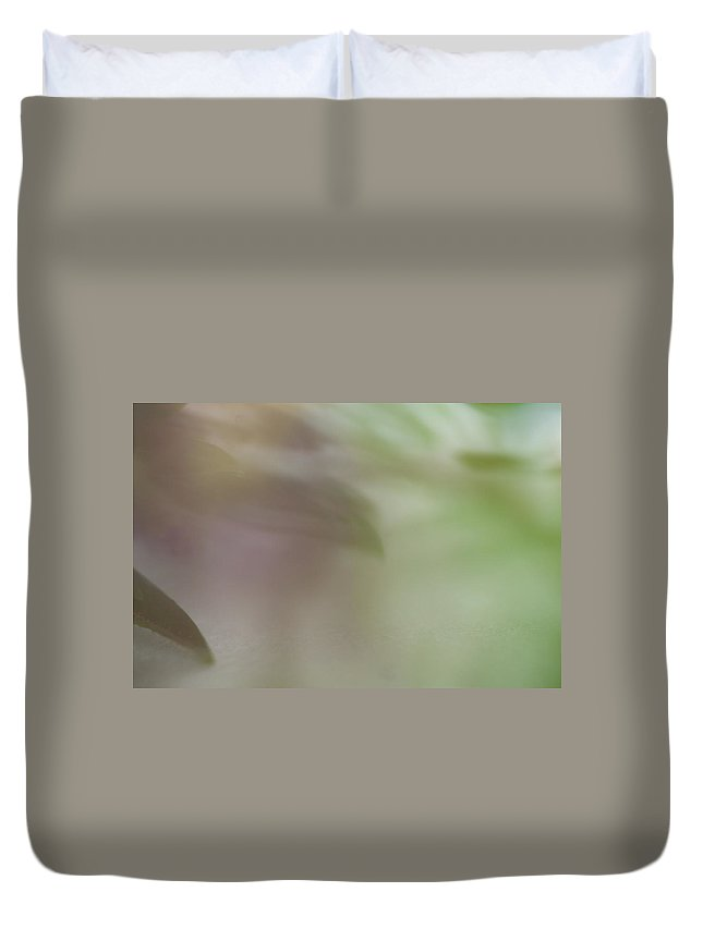 Flowers Duvet Cover featuring the photograph Floral Abstract by Roger Mullenhour